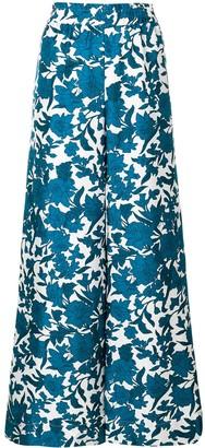 La DoubleJ Lilium printed palazzo trousers