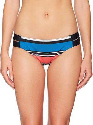 Jag Women's Variegated Stripe Strappy Side Bikini Bottom