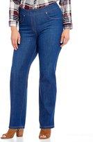 Peter Nygard Nygard Slims Plus Luxe Denim Slim Straight Leg Pants