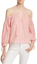 Rebecca Taylor Off-The-Shoulder Stripe Top - 100% Exclusive