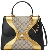 Gucci Iside Top Handle Gg Supreme & Leather Satchel - None