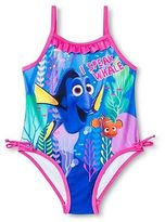 Toddler Girls' Finding Dory One Piece Swimsuit -Blue