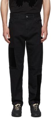 McQ Black Mismatched Jeans