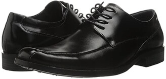 Stacy Adams Canton Bike Toe Lace Up Oxford (Black) Men's Dress Flat Shoes