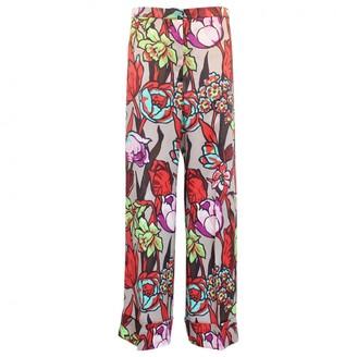 Duro Olowu Multicolour Silk Trousers for Women