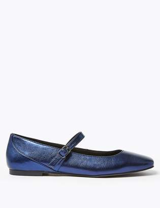 M&S CollectionMarks and Spencer Buckle Fastening Square Toe Pumps