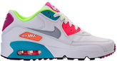 Nike Girls' Grade School Air Max 90 Leather Running Shoes