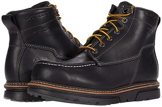 Wolverine I-90 DuraShocks Moc-Toe 6 Work Boot (Black) Men's Work Lace-up Boots
