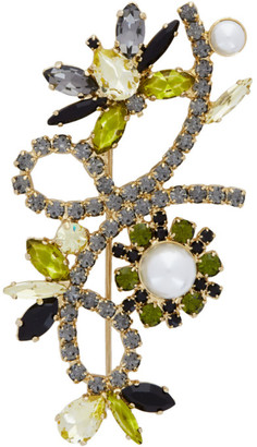 Erdem Gold Crystal Bee Brooch