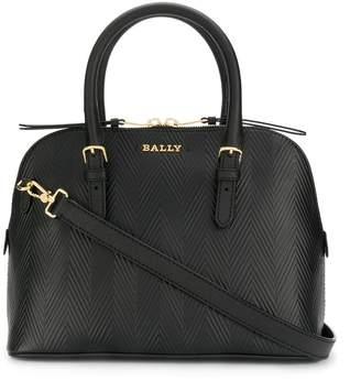 Bally textured logo handbag