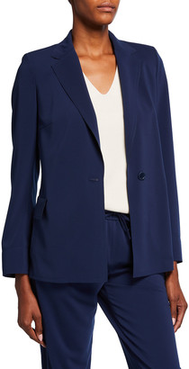 Akris Punto Solid One-Button Boyfriend Blazer