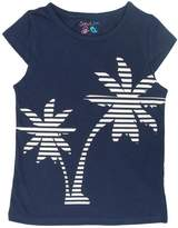 Sofie & Sam Cotton Kids Girls Tee T-Shirt Top - White Tree Navy