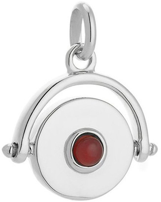 Mocha Protection Spinner Charm - Sterling Silver