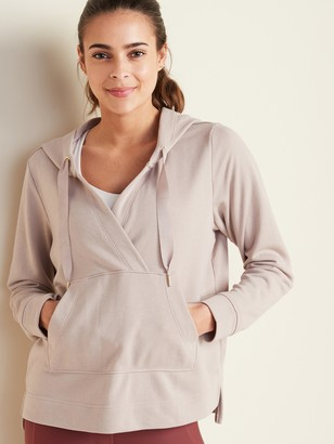 Old Navy Loose Cross-Front French-Terry Hoodie for Women