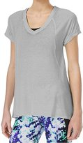 Calvin Klein Women's Short Sleeve Seamed Burnout T-Shirt