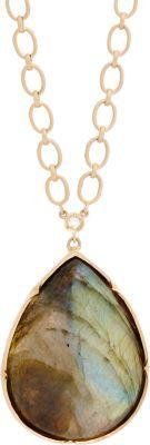 Irene Neuwirth Labradorite & Rose Gold Pendant Necklace