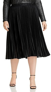 MICHAEL Michael Kors Pleated Animal Print Midi Skirt