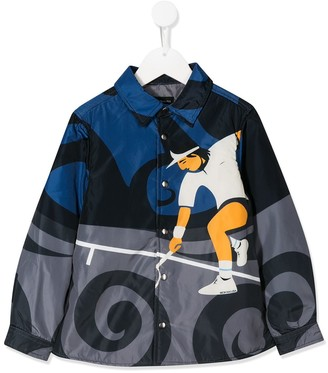 MonnaLisa Long Sleeve Tennis Man Print Jacket