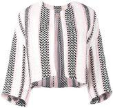 Giambattista Valli woven cropped blazer