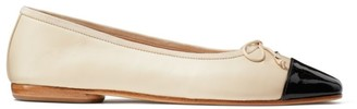 Kate Spade Pavlova Cap-Toe Leather Ballet Flats