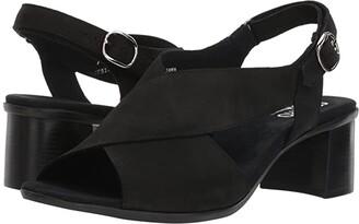 Munro American Laine (Black Nubuck) Women's Sandals