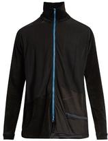 Longjourney Track zip-through cotton-velvet top