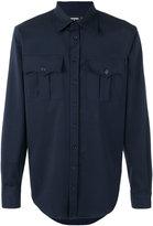 DSQUARED2 chest pocket shirt - men - Spandex/Elastane/Virgin Wool - 44