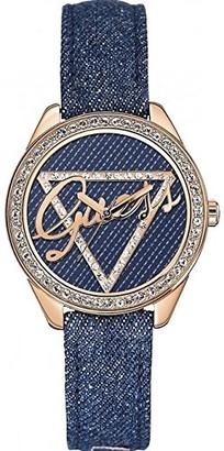 GUESS Women's Analogue Quartz Watch with Leather Bracelet W0456L6