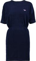 MAISON KITSUNÉ Ruched cotton-terry mini dress