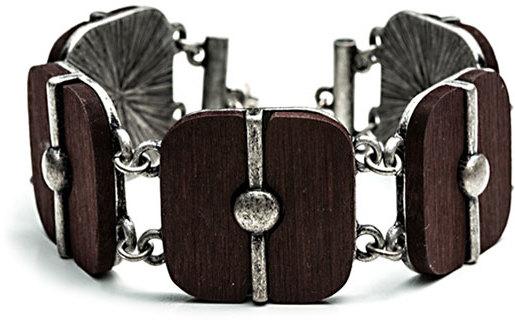 Danielle Stevens Jewelry Square Wood Bracelet
