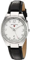 Swiss Legend Women's 'Passionata' Quartz Stainless Steel and Leather Automatic Watch, Color:Black (Model: 10220SM-02)