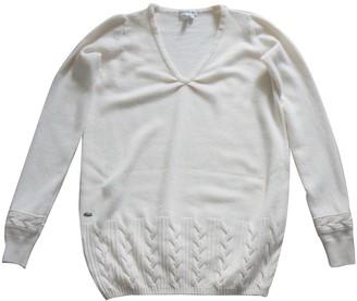 Lacoste Ecru Viscose Knitwear