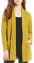 Eileen Fisher Petites Shawl Collar Long Jacket