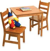 Lipper Square Table & 2 Chairs Set in Pecan Finish