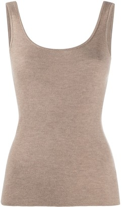 Co Ribbed-Knit Cashmere Top