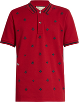 Gucci Bee-embroidered piqué polo shirt
