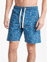 John Lewis Bike Print Lounge Shorts, Blue