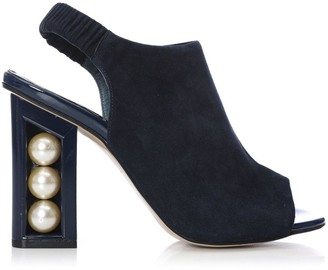 Moda In Pelle Seashell Navy Suede