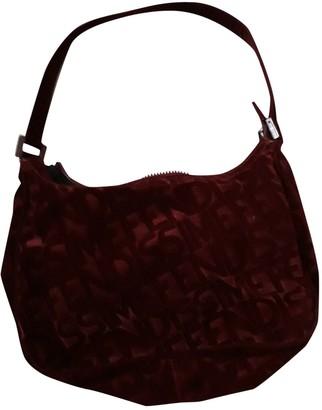 Fendi Burgundy Velvet Handbags
