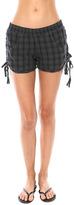 Monrow Plaid Tassel Shorts