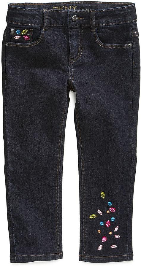 DKNY Jeans, Girls Jewel Ankle Skinny Jeans