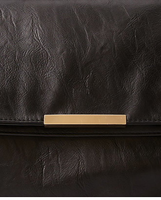 Forever 21 Fold-Over Faux Leather Clutch