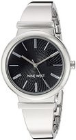 Nine West Women's Quartz Metal and Alloy Dress Watch, Color:Silver-Toned (Model: NW/1917BKSB)