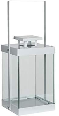 Mica Decorations Lantern, Iron, White, 15.5 x 15.5 x 40.5 cm