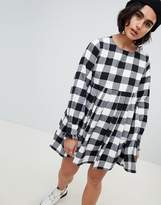 House of Holland Smock Dress In Check