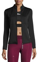 adidas by Stella McCartney The Midlayer Zip-Front Jacket, Black