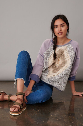 Pilcro And The Letterpress Pilcro Anabel Sweatshirt By in Purple Size XS