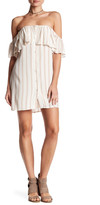 Privacy Please Norval Striped Off-the-Shoulder Mini Dress
