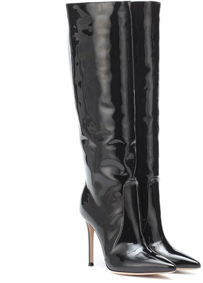 Gianvito Rossi Heather 105 black patent leather boots