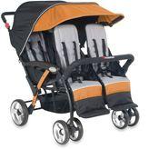 Foundations® Quad SportTM Splash of Color 4-Passenger Stroller in Orange